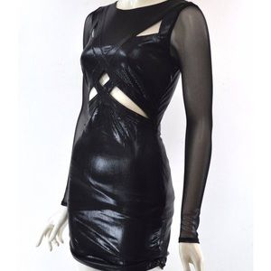 Beautiful black dress mesh sleeves with cut outs!